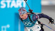 Biathlon-Medaillenserie reißt: Kuzmina holt Gold, Dahlmeier chancenlos