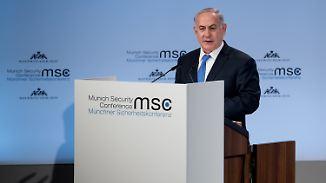 """""""Testen Sie nicht unsere Entschlossenheit"""": Netanjahu droht Iran und reicht Palästinensern die Hand"""