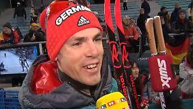 """Simon Schempp zu Olympia-Silber: """"Fourcade hat verdient gewonnen"""""""