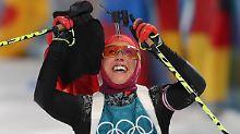 Deutsche Biathleten auf Goldkurs: Dahlmeier wieder munter für Mixed-Staffel