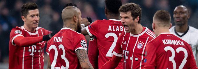 Thomas Müller ist heiß auf Tore: Gleich zwei schießt er gegen Besiktas Istanbul.