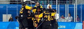 Sensation: Deutschland steht im Eishockey-Halbfinale der Herren.