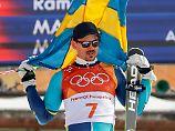 Kristoffersen und Hirscher raus: Myhrer triumphiert im olympischen Slalom