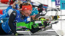 Olympia-Gold an Weißrussland: Deutsche Biathletinnen erleben Staffel-Drama