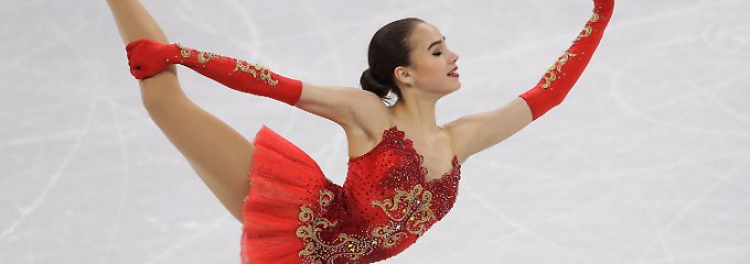 Olympiasiegerin mit 15 Jahren: Eiskunstlauf-Küken Sagitowa gewinnt Gold