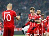 Nicht schön, aber schön hoch: die Bayern gegen Besiktas.