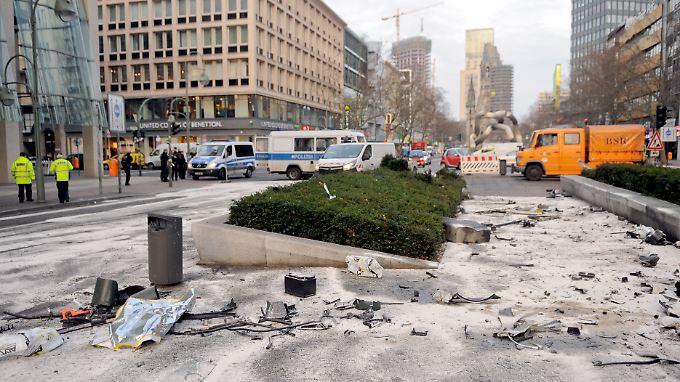 Der Unfallort in Berlin am Morgen danach.