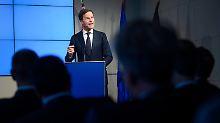 """""""Visionen schaffen keine Jobs"""": Für Rutte ist Europa vor allem ein """"Deal"""""""