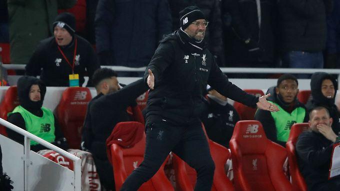 Jürgen Klopp feiert mit seinem FC Liverpool Platz zwei.