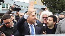 Die Fünf-Sterne-Protestbewegung von Luigi Di Maio wurde stärkste Kraft.