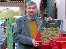 Seit 2010 gehört Günther Jauch Winzer das Weingut von Othegraven (hier 2011).
