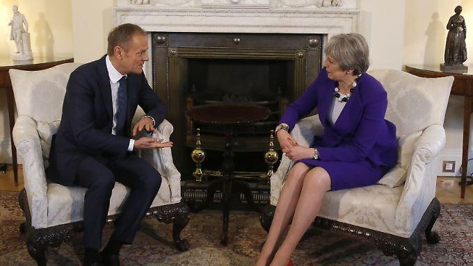Am vergangenen Donnerstag war Donald Tusk zu Besuch in London.