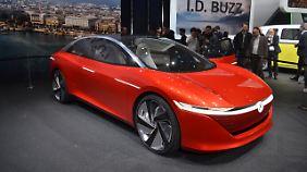 Die Studie des I.D. Vizzion soll seriennah sein verspricht VW.