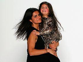 Mit Töchterchen bei der FashionWeek 2013
