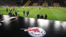 Abschlusstraining in Dortmund: die Spieler des FC Red Bull Salzburg.