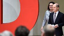 Scholz soll Vizekanzler werden: SPD-Führung stellt ihre Minister vor