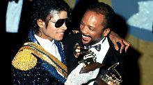 Goldenes Dream-Team der Musik: Michael Jackson und Quincy Jones mit Grammys.