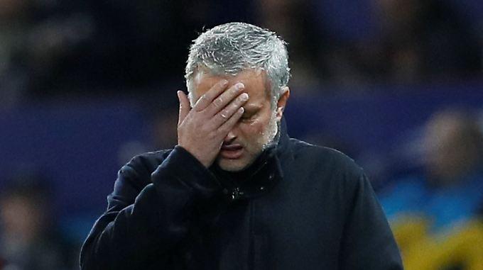 Entäuscht, gefrustet, verzweifelt: ManUnited-Coach José Mourinho.