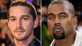 Promi-News des Tages: Shia LaBeouf spendet Kleidung für Kanye West