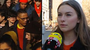 """Schülerproteste in den USA: """"Wenn die Politiker nicht auf uns hören, werden sie ihre Jobs verlieren"""""""