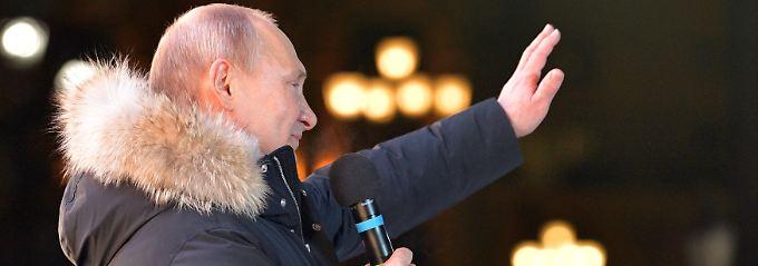 Erste Prognosen: Putin gewinnt Präsidentschaftswahl klar