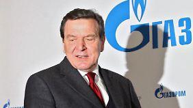 Der deutsche Mann für Gazprom: Altkanzler Schröder setzt sich für Nord Stream 2 ein.