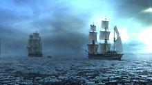 """Die """"HMS Terror"""" und """"HMS Erebus"""" auf dem Weg ins eiskalte Verderben."""