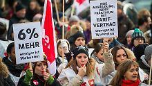 Bei den jüngsten Streiks im öffentlichen Dienst haben Gewerkschafter attraktivere Bezahlungen gefordert.