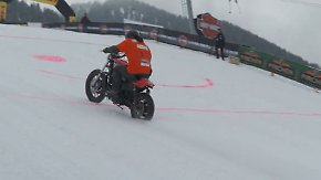 """""""Harley and Snow"""" in Südtirol: 240 Biker rasen die Skipiste rauf"""
