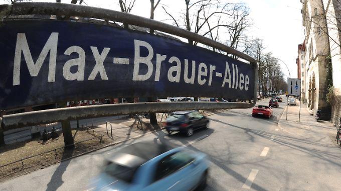 600 Meter der Max-Brauer-Allee in Altona sollen für Diesel, die nicht der relativ neuen EU-Abgasnorm 6 entsprechen, ab Ende April tabu sein.