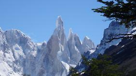 Die berühmte Eiskappe am Cerro Torre.