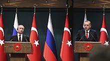 """""""Lieber Freund"""" Putin: Türkei und Russland rücken enger zusammen"""