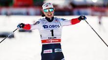 Bei ihrem letzten Weltcup-Start belegte Marit Bjoergen standesgemäß den ersten Platz.