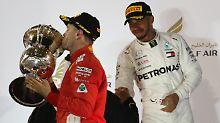 Mercedes-Duo auf den Plätzen: Vettel siegt beim Formel-1-Rennen in Bahrain