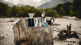 Auch ein Outdoor-Morgen beginnt am besten mit einem guten Kaffee.