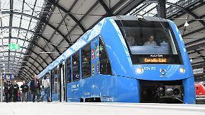 Jungfernfahrt in Hessen: Wasserstoff-Zug soll Diesel-Loks ersetzen