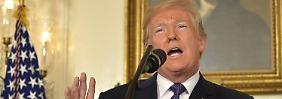 """Ansprache zum Angriff auf Syrien: Trump: """"Verbrechen eines Monsters"""""""