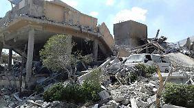 Die staatliche syrische Nachrichtenagentur Sana veröffentlichte ein Bild vom zerstörten Forschungszentrum bei Damaskus.