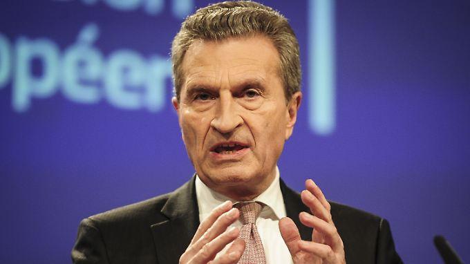 Oettinger warnt die Union, den ganzen Aufbruch Europas nicht zu gefährden.