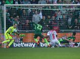 Feiner Fußballfight ohne Sieger: Leipzig rettet sich vor K.o. in Bremen
