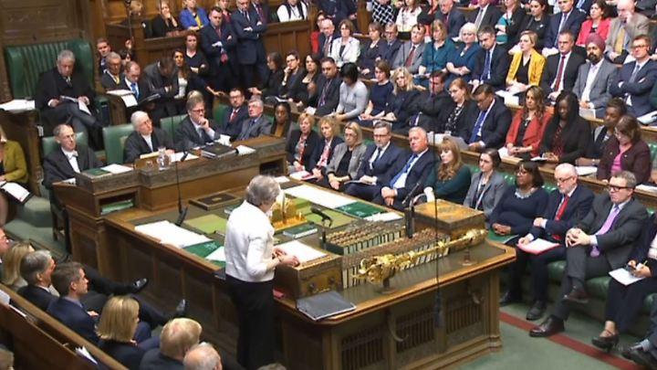 May stellte sich den Abgeordneten im Unterhaus.
