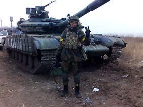 Dieser russische Söldner war 2017 in der Ukraine aktiv.