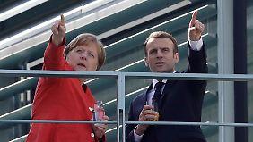 Ringen um EU-Erneuerung: Merkel und Macron suchen gemeinsamen Kurs