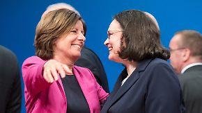 """""""Sie wird eine starke Parteivorsitzende sein"""": Genossen stärken Andrea Nahles den Rücken"""