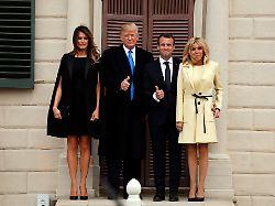 Trumps empfangen die Macrons: Erst das Vergnügen, dann die Arbeit