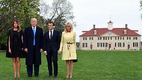 Europas Trump-Versteher: US-Präsident hofiert Macron in Washington
