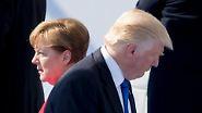 Trump und die Kanzlerin: Merkel steht kühler Empfang in Washington bevor