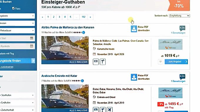 n-tv Ratgeber: Kreuzfahrt-Portale zahlen sich finanziell aus