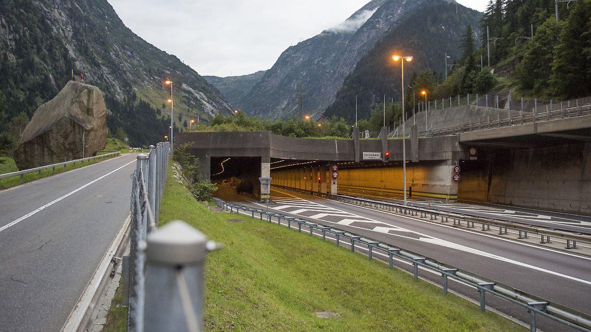 Schwerer Unfall im Gotthard-Tunnel - fünf Verletzte