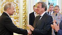 Debatte um Nord Stream 2: Schröder: US-Interessen hinter Widerstand